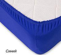 Простынь на резинке из трикотажной ткани от Текс-Дизайн (90х200 см / Синий)