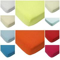Простынь на резинке из махровой ткани Мерцана (180х200 см / Молочный)