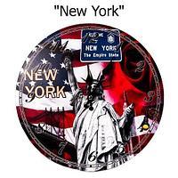 """Часы настенные с кварцевым механизмом «Города и достопримечательности» (""""New York"""")"""