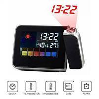 Часы-метеостанция с проектором времени Сolor Screen Calendar 8190