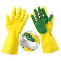 Перчатки с губкой для мытья посуды FEI E GLOVE