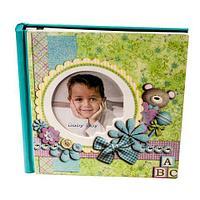 Фотоальбом детский в деревянной обложке «Детские шалости» [40 страниц] (Для мальчиков)