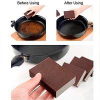 Чудо-губка «Шоколадка» с напылением SiC для чистки кастрюль и сковородок