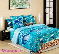 Комплект постельного белья из бязи евростандарт «Королевское искушение» ТекстДизайн (Дельфины)