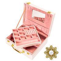 Шкатулка-чемоданчик для украшений «Фамильные драгоценности» с зеркалом, фото 1