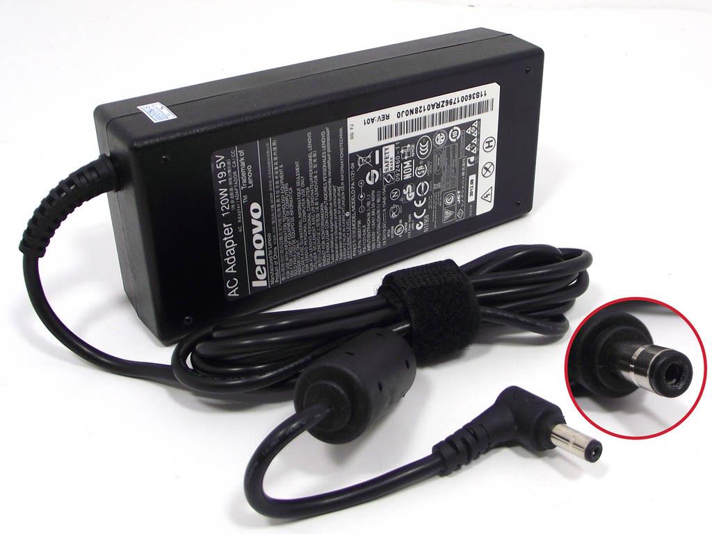Блок питания для ноутбука Lenovo 19.5V 6.15A 120W 5.5x2.5 мм (оригинальный)