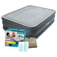 Двуспальная кровать надувная со встроенным насосом INTEX 64140 DURA-BEAM PLUS
