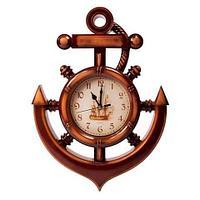 Часы-якорь настенные QUARTZ CLOCK, фото 1