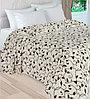 Плед из велсофта «Радужное настроение» Швейная Фабрика Мерцана (Полуторка / Плетение листьев)
