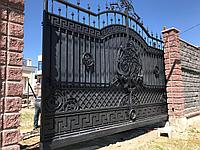 Ворота стальные кованные откатные