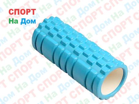 Массажный валик (ролик) для фитнеса и йоги 33 см (цвет зеленый)