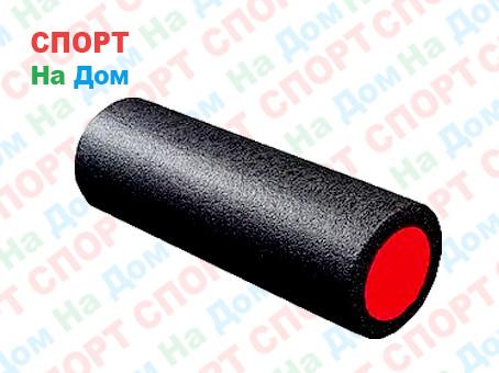 Массажный валик (ролик) для фитнеса и йоги 45 см (цвет черный)