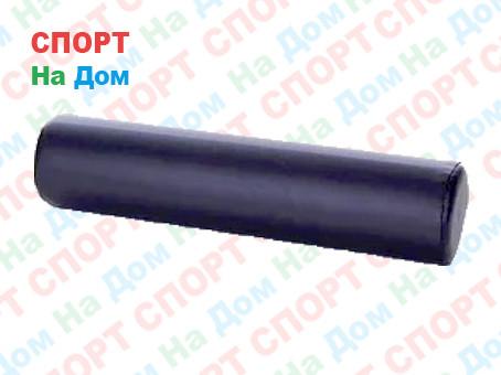 Массажный валик (ролик) Ultrasport кожаный для фитнеса и йоги 90 см (цвет черный)