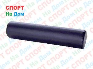Массажный валик (ролик) Ultrasport кожаный для фитнеса и йоги 90 см (цвет черный), фото 2