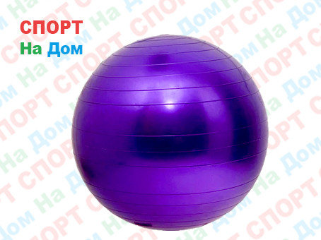 Мяч для фитнеса фитбол 75 см Marque Gym Ball (цвет фиолетовый), фото 2
