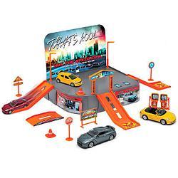 """Игровой набор """"Гараж"""" с машинкой welly City Garage Playset"""
