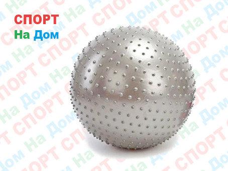 Мяч для фитнеса фитбол массажный 85 см King Lion Massage Gym Ball (цвет серебро), фото 2