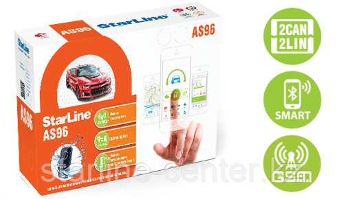Автомобильная сигнализация StarLine AS96 BT 2CAN+2LIN GSM