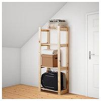 Стеллаж АЛЬБЕРТ хвойное дерево 64x28x159 см ИКЕА, IKEA, фото 1