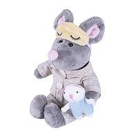 Мягкая игрушка Мышь в пижаме, 26см Символ 2020 года.