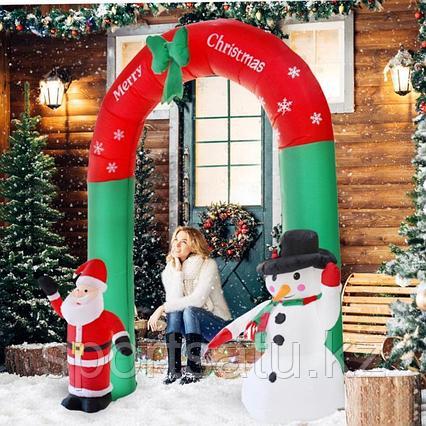 гигантская надувная АРКА Санта-Клаус Снеговик