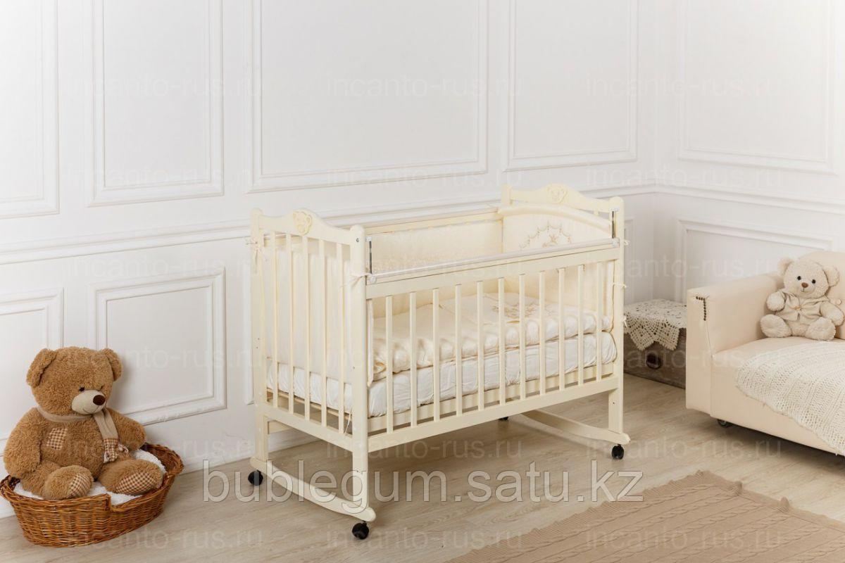 Кровать детская Incanto Pali с мишкой колесо-качалка