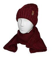 Шапка+шарф Катрин косы подворот, фото 1