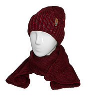 Шапка+шарф Катрин косы подворот