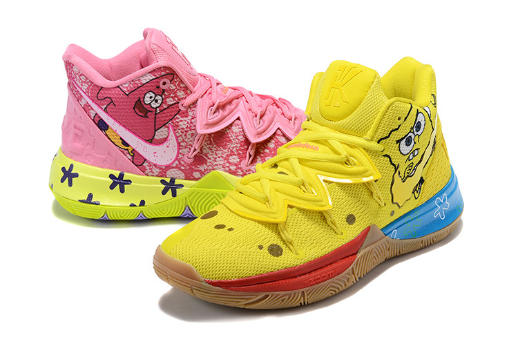 """Игровые кроссовки Nike x Nikelodeon Kyrie 5 """"Spongebob/Patrick"""" (40-46)"""