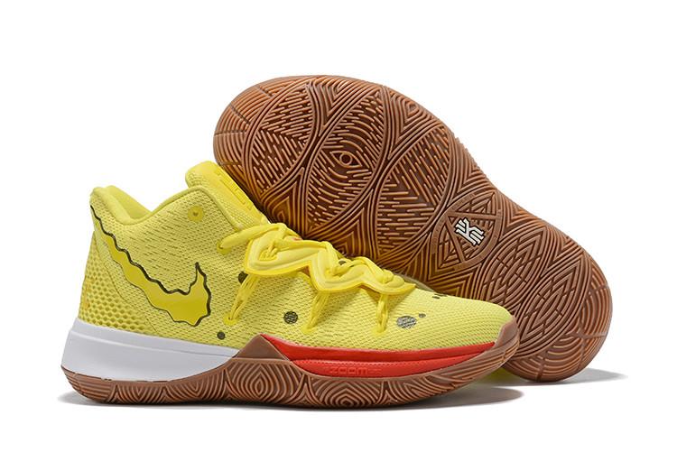 """Игровые кроссовки Nike x Nikelodeon Kyrie 5 """"Spongebob"""" (32-46)"""