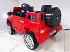 Красный электромобиль на гелевых колесах Гелендваген 4WD! Mercedes G55AMG! Машинка! Электрокар!, фото 3