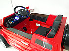 Красный электромобиль на гелевых колесах Гелендваген 4WD! Mercedes G55AMG! Машинка! Электрокар!, фото 7