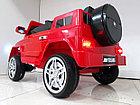 Красный электромобиль на гелевых колесах Гелендваген 4WD! Mercedes G55AMG! Машинка! Электрокар!, фото 5