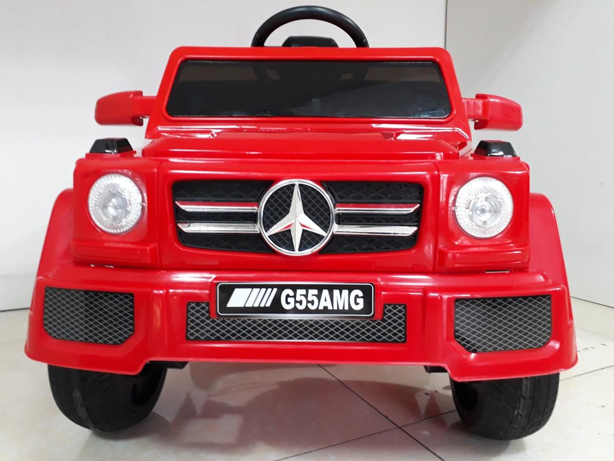 Красный электромобиль на гелевых колесах Гелендваген 4WD! Mercedes G55AMG! Машинка! Электрокар!