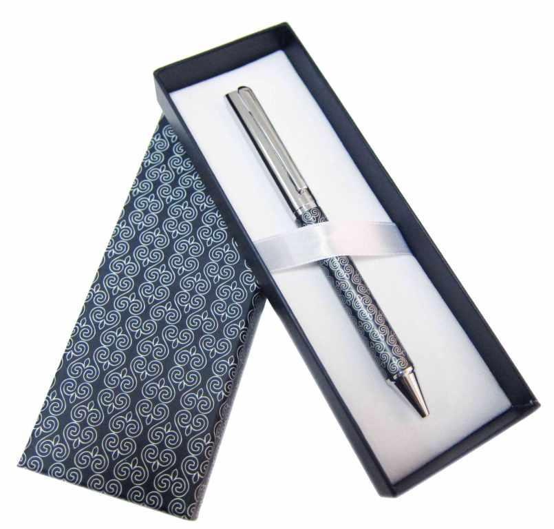 Ручка металлическая  в упаковке (синяя)