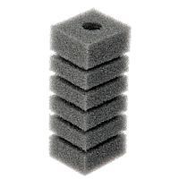 Губка прямоугольная запасная серая для фильтра турбо №3 (6х6х12 см)