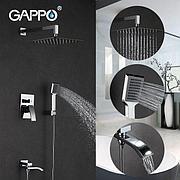 Gappo G7107 Душевой комплект со встроенным смесителем с 3-функциями хром