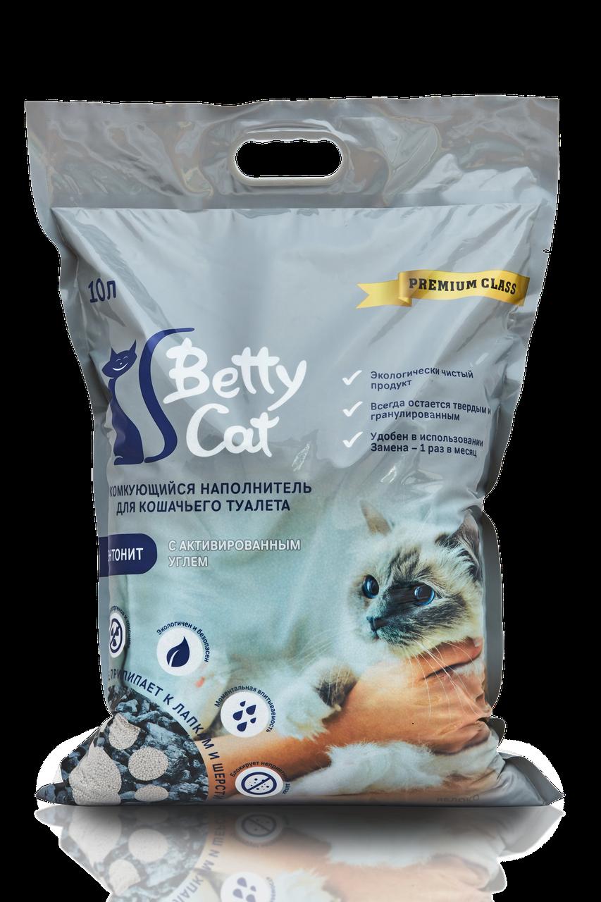 Комкующийся наполнитель Betty Cat (с активированным углём)