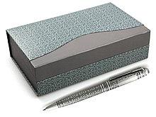 Набор ручек в подарочной упаковке (металлические, (с нац. орнаментом, с плашкой для гравировки)