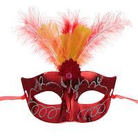 """Карнавальная маска """"Причуда"""" с перьями, цвета МИКС, фото 1"""