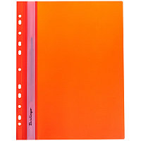 Скоросшиватель пластиковый с перфорацией А4 180мк Оранжевый