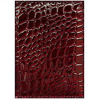 Обложка для паспорта OfficeSpace иск. кожа, бордовый, крокодил 240458