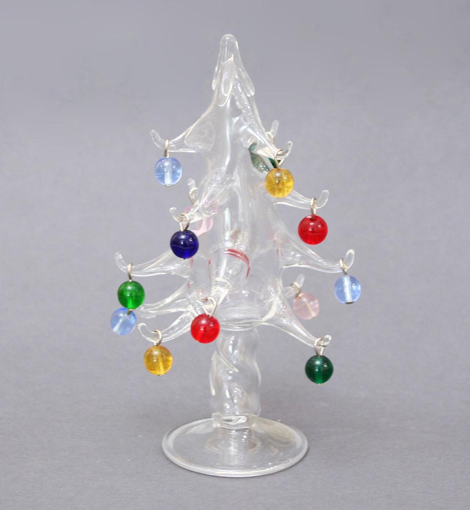 Сувенир Новогодняя елка. Ручная работа, венецианское стекло
