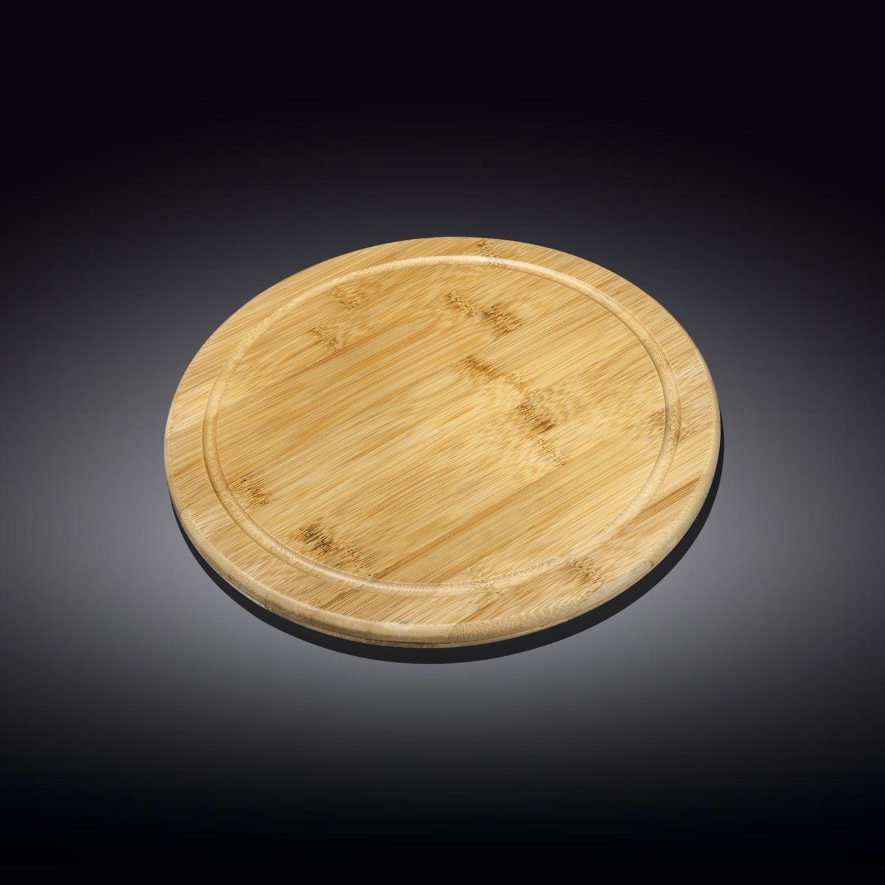 Бамбуковая сервировочная круглая доска 15см