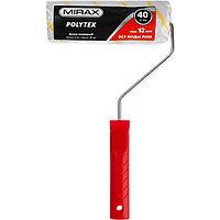 Валик малярный POLYTEX, 180 мм, d=40 мм, ворс 12 мм, ручка d=6 мм, MIRAX, фото 1
