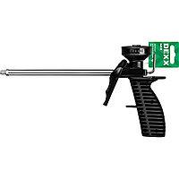 """Пистолет для монтажной пены """"MIX"""", пластиковый химически стойкий корпус, клапаны из нержавеющей стали, DEXX, фото 1"""