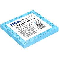 Бумага для заметок с клейким краем 75x75 100л. голубой OfficeSpace 178228