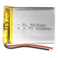 Acc 3.7V 600mah  LP503040 Li-Po аккумулятор.