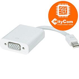 Переходник (адаптер) для ноутбуков с разъема Mini DisplayPort на разъем VGA. Конвертер. Арт.1061
