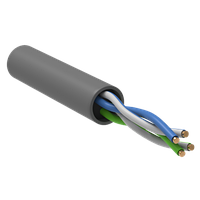 ITK BC1-C502-111-305-G кабель витая пара U/UTP кат.5 CCA 100 МГц, 2 пары PVC INDOOR 1м серый